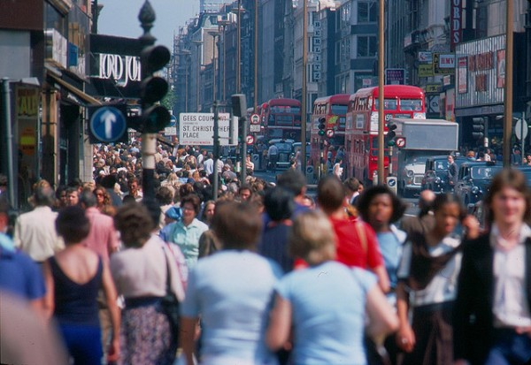 1970s Oxford street London