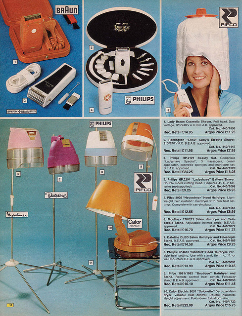 Argos 1976 Catalogue Hairdryers