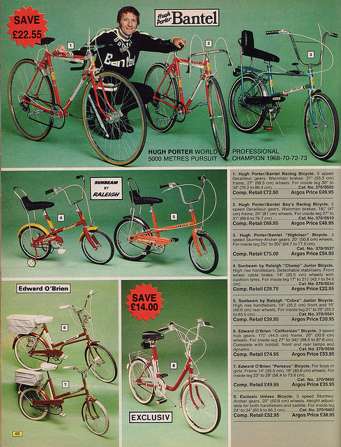 Argos Catalogue Bikes 1976