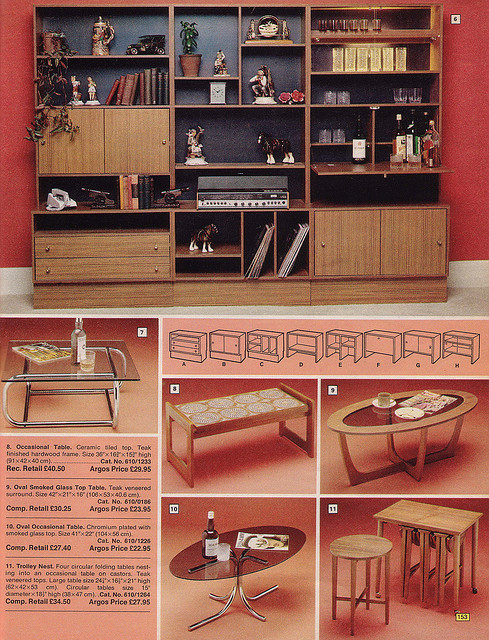 Argos Catalogue Furniture 1976
