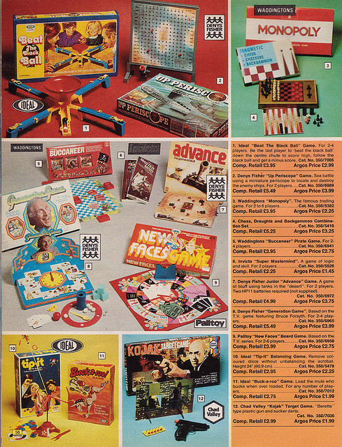 Argos Catalogue Games 1976