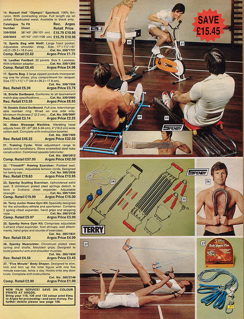 Argos Catalogue Keep Fit 1976
