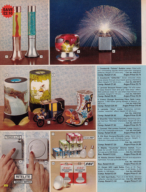 Argos Catalogue Oil Lamps 1976