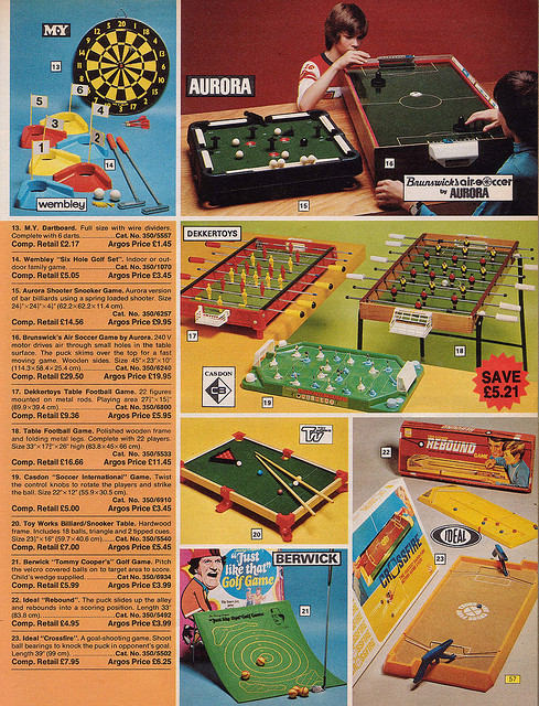 Argos Catalogue Toys 1976 Outdoor Games