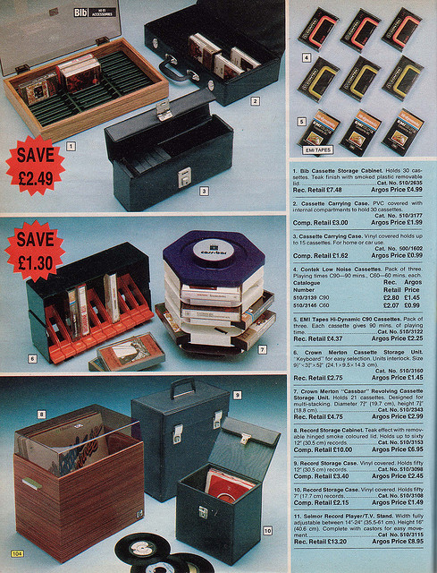 Argos Catalogue 1976 Record Boxes