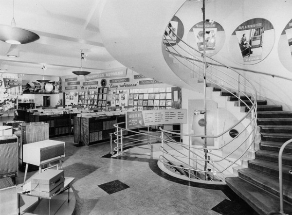 Classical Records Department and Spiral Staircase at HMV London Shop