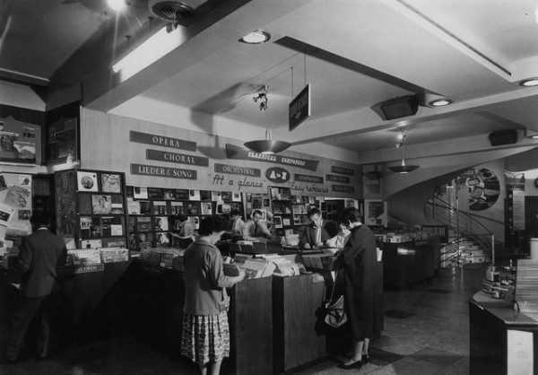 HMV Oxford Street, London- Classical vinyl department 1960s