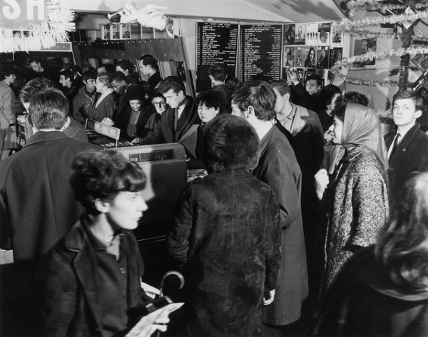HMV Oxford Street, London - Ground floor Pop section mid 1960s