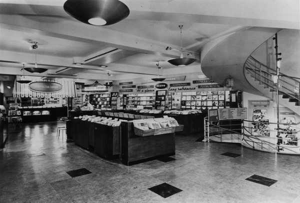 HMV Record Shop Oxford Street, London - Interior of store 1960s