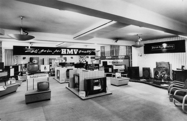 HMV Record Store Oxford Street in London 1962