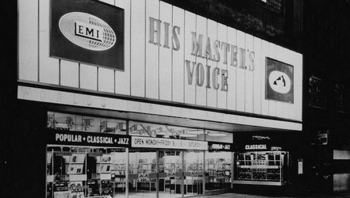 HMV Oxford street store in the sixties
