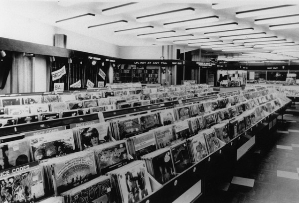 Inside The HMV Record Store in Oxford Street London