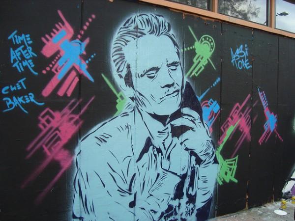 Chet Baker Street Art