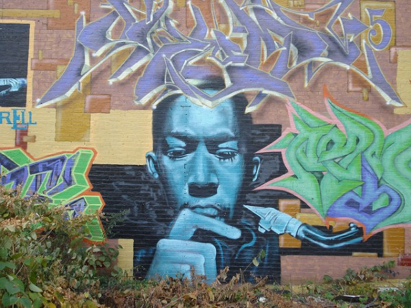 John Coltrane street art