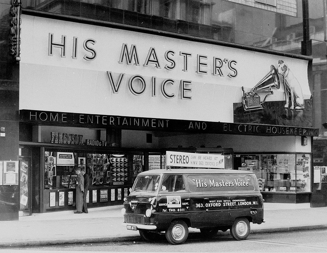 HMV Delivery Van in Oxford Street, London