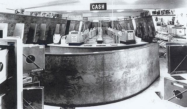 Inside HMV Record Store, Oxford Street, London in 1960s