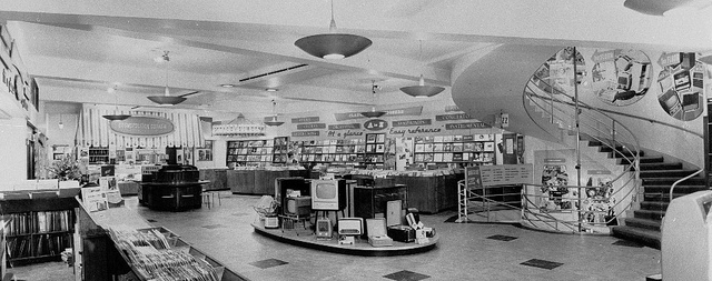 Inside HMV Record Store in 1960s