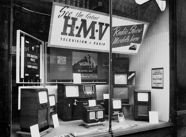 Window Display HMV Record Store in 1950s