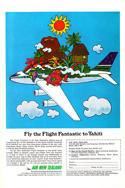 Psychedelic Airline Advert