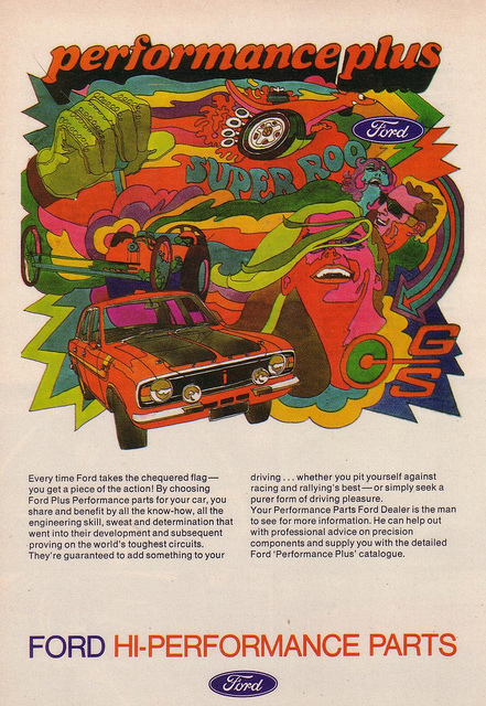 Psychedelic Car Advert