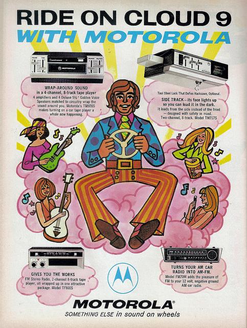 Psychedelic Motorola 1960s Advert