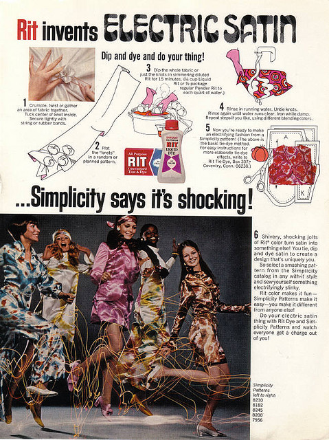 Psychedelic Satin 1960s Advert
