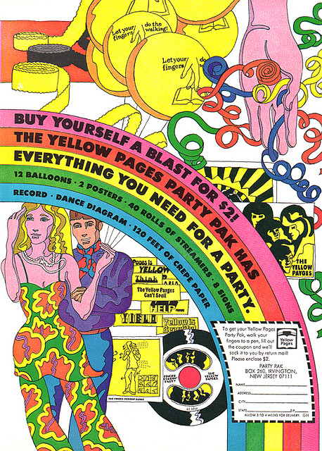 Psychedelic Yellow Pages Advert