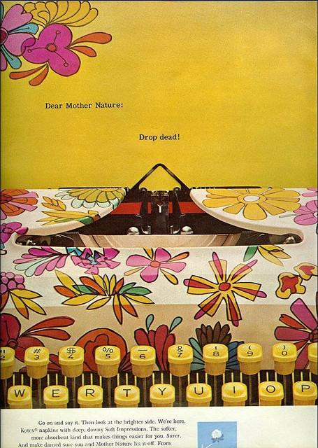 Psychedlic Typewriter Advert