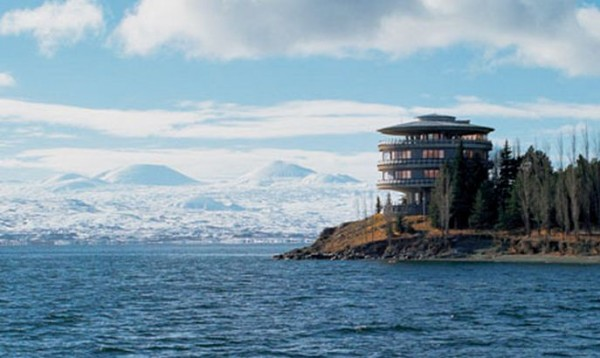 The Armenian president's private holiday home on Lake Sevan