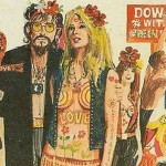 Retro Hippy Book Covers