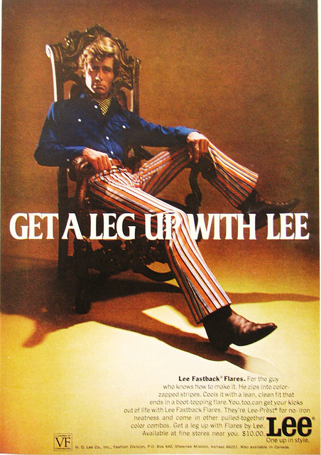 Lee Stripe Jeans Advert