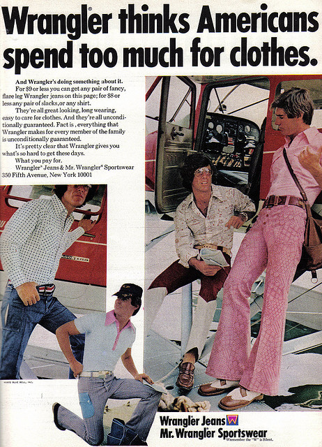 Wrangler 1970s Slacks Advert