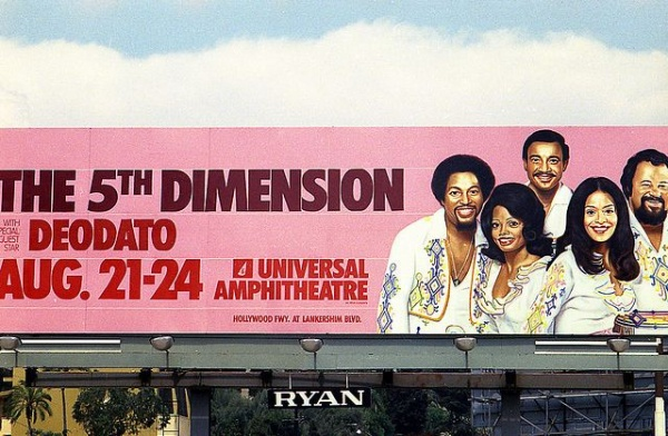1970s Music Billboards on Sunset Boulevard