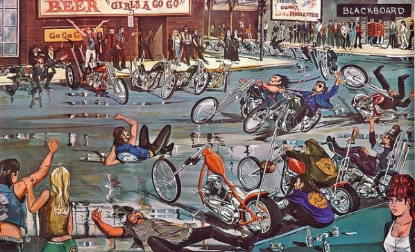 meet the outlaws david mann s biker art voices of east anglia
