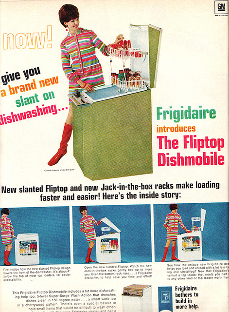 Dishwasher 1960s advert