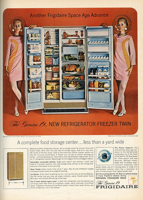 Space Age Fridge 1960s advert