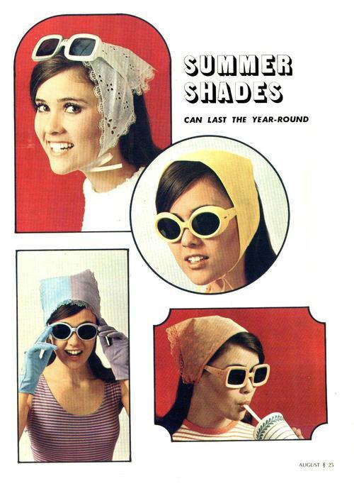 shade glasses 5poz  1960s sunglasses advert