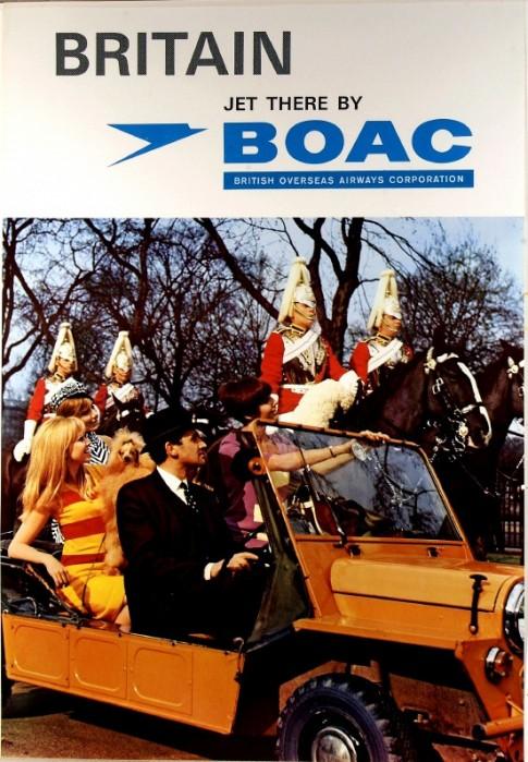 1969 BOAC London Poster