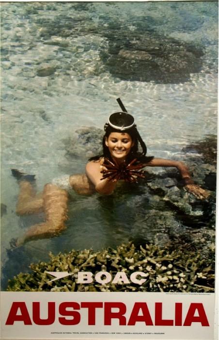 BOAC Australia Poster 1960s