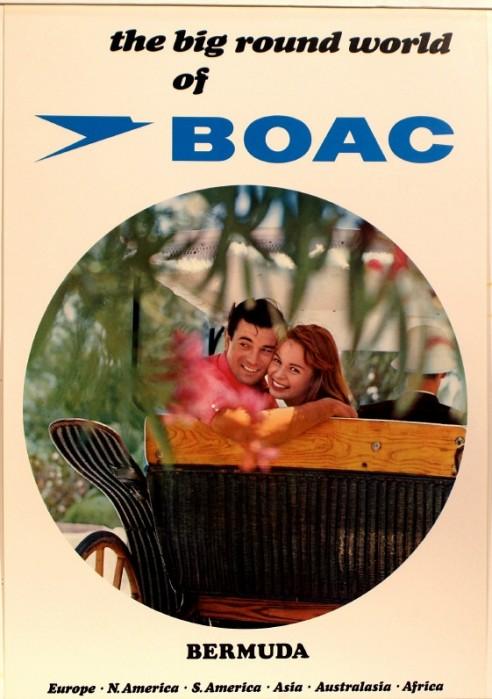 BOAC Bermuda 1960s Poster