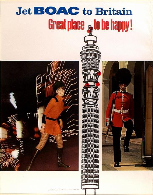 BOAC Swinging Sixties Poster