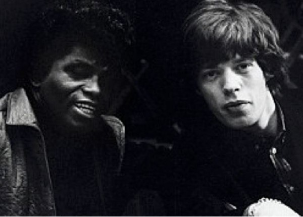James Brown and Mick Jagger