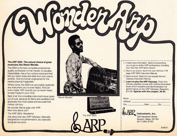 Stevie Wonder Arp Advert