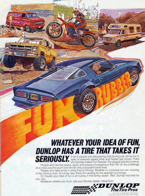 Fun Rubber 1970s Tire Advert