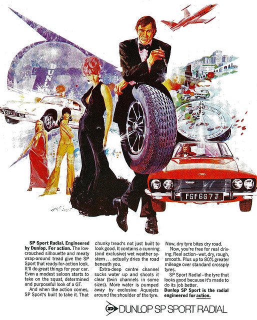Illustrated Dunlop Radial Advert