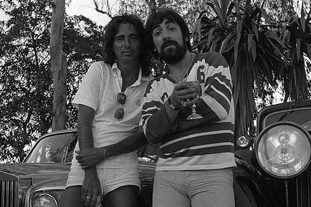 Keith Moon and Alice Cooper