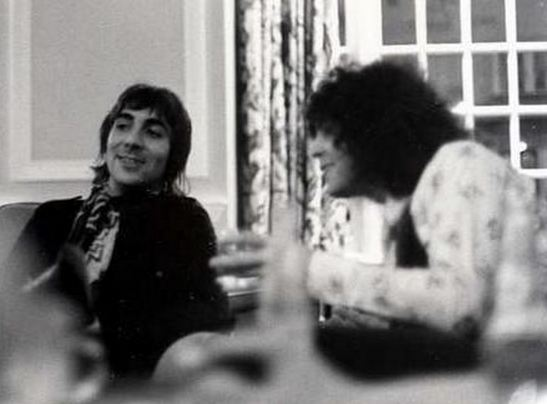 Keith Moon and Marc Bolan