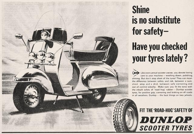 Lambretta Dunlop Advert 1960s