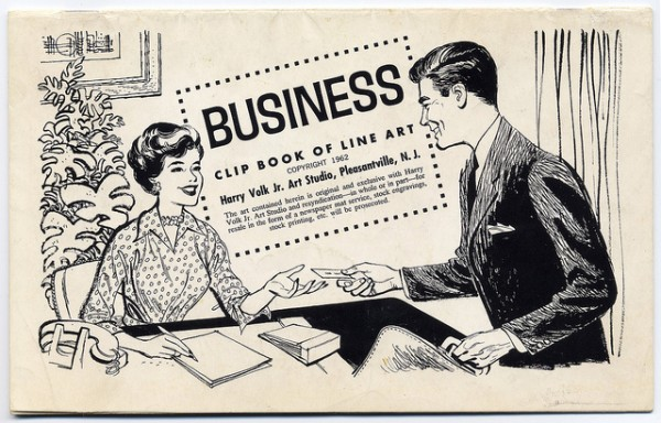 1960s business clip art