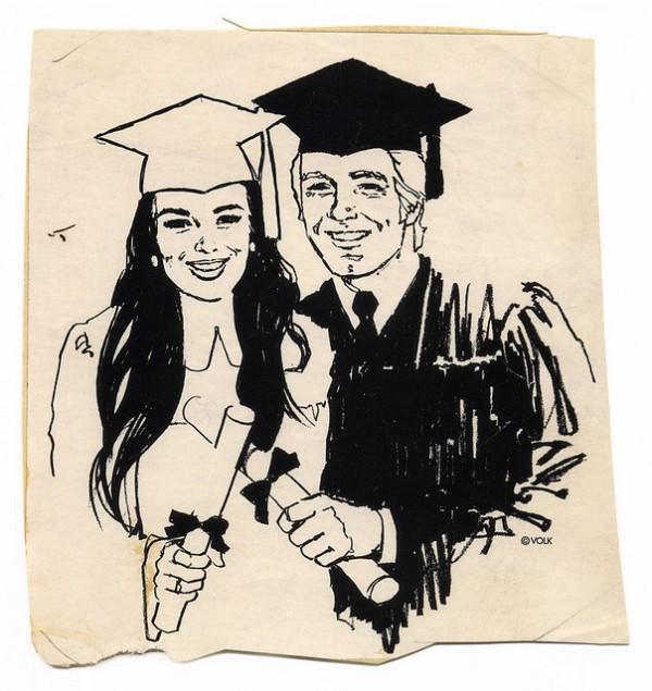 1960s clip art grads